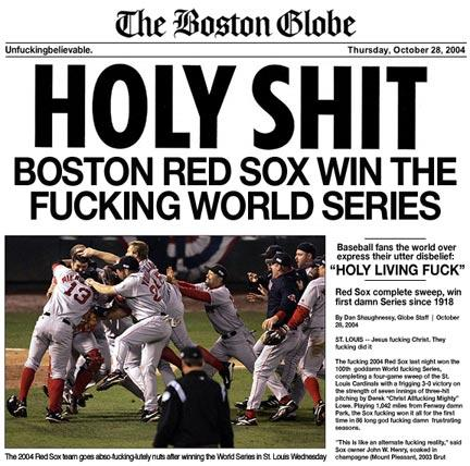 boston red sox, mlb, world series champions 2004, boston globe